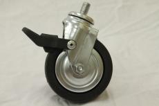 Gummilaufrolle Schwarz Ø 80 mm mit Bremse